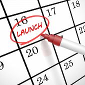 Launch Word Marked On Acalendar