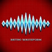 Retro card with sound waveform