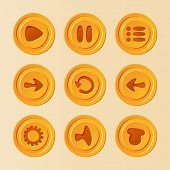 Постер, плакат: Game UI vector set of buttons for mobile game