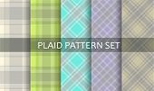 Plaid Patterns. Vector Set.
