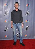 LOS ANGELES - NOV 07:  ADAM LEVINE arrives to the The Voice Season 5-Top 12  on November 7, 2013 in Universal City, CA