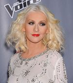 LOS ANGELES - NOV 07:  CHRISTINA AGUILERA arrives to the The Voice Season 5-Top 12  on November 7, 2