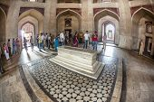 People Visit Humayuns Tomb