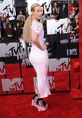 LOS ANGELES - APR 13:  Iggy Azalea arrives to the 2014 MTV Movie Awards  on April 13, 2014 in Los Angeles, CA.