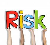 Risk Word Concepts Isolated on White