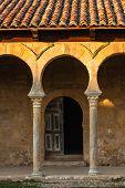 Beautiful Mozarabic Archs In Church Entrance