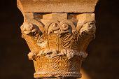 Beautiful Romanesque Capital Closeup View