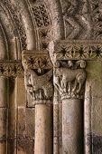 Fine Romanesque Art Detail Archivolts And Capitals