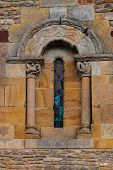 Fine Romanesque Art In The Window Aof A Church
