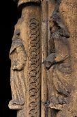 Human Sculptures In Shaft Column