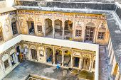 People In Beautiful Old Haveli In Mandawa