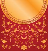Chinese floral background design