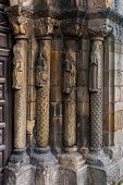 Romanesque Columns  In Santa Maria De La Oliva