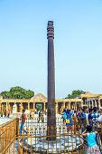 Tourists Walk Around Qutub Minar