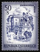 Postage Stamp Austria 1975 Hofburg And Prince Eugene Statue, Vie