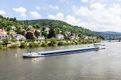 Freight Ship At The River Neckar