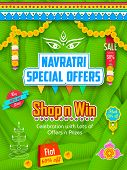 image of subho bijoya  - illustration of colorful banners for Happy Navratri Offer promotions - JPG