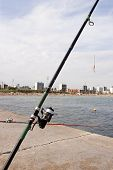 Fishing Rod In Barcelona