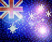 Brillante bandera de Australia