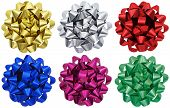Metallic Gift Bows X 6