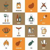 Bbq Line Icons