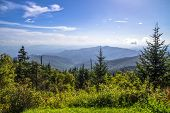 stock photo of appalachian  - View from the summit of Clingmans Dome over layers of the Blue Ridge Mountains - JPG