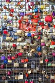 lockers at the Hohenzollern bridge in Cologne