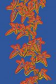 Sketch illustration of a leafy ivy vine in popart style