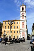 Rusca Palace And The Clock Tower In Nice