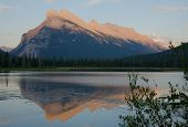 Mount Rundle At Evening