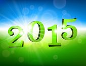 3d nature 2015 happy new year design. Vector illustration.