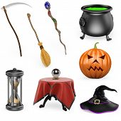 picture of witch ball  - 3D halloween set - JPG