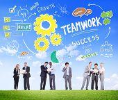 Teamwork Team Together Collaboration Business People Communication Concept