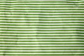 Crumpled Paper With Green Stripes