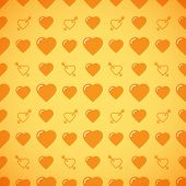 pic of avow  - Lovely heart romantic yellow pattern - JPG