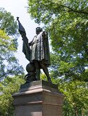 Central Park Christopher Columbus statue Manhattan New York US