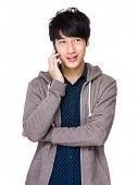 Man talk to phone