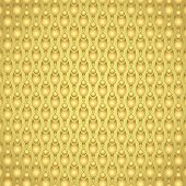 Gold Fire And Pincers And Circle Pattern On Pastel Background