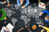 E-Business Global Business Commerce Online World Concept