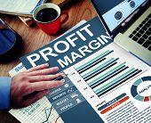 Profit Margin Businessman Working Calculating Planning Paperwork Concept