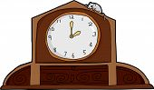 picture of nursery rhyme  - Cartoon mouse on top of ornate mantle clock - JPG