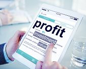 Profit Investment Digital Divice Business Income Sales Concept