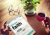 picture of faithfulness  - Man Reading the Definition of Faith - JPG