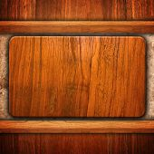 wood board on granite wall
