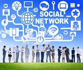 Business People Meeting Connection Communication Social Network Concept