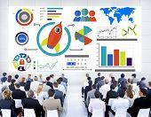 New Business Chart Innovation Global Start up Seminar Concept