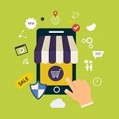 Online shopping set