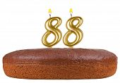 Birthday Cake Candles Number 88 Isolated