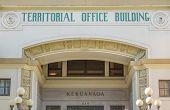 Hawaii Territorial Office Building Facade.