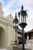 Street Lamp In A Buddhist Temple
